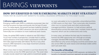 How Diversified is Your Emerging Markets Debt Strategy?
